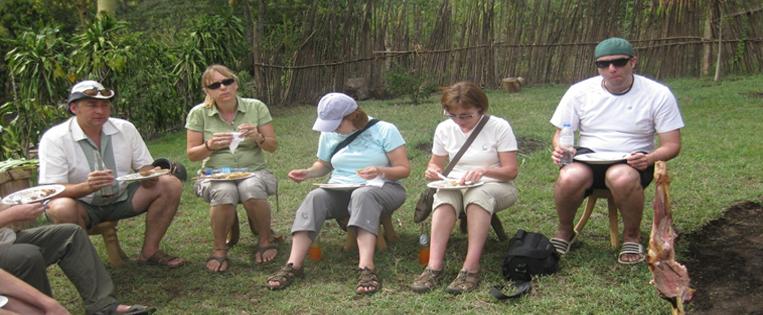 Volunteer Eating